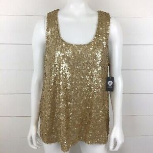 NWT Vince Camino sequin top